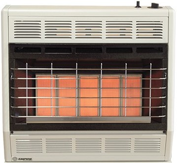 30,000 BTUs Infrared Vent-Free Heater with Thermostat